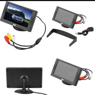 """2016 New Arrival Classic Style 4.3"""" TFT LCD Rearview Car Monitors for DVD  Reverse Backup Camera"""
