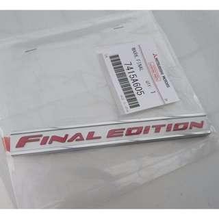 Evo X Final Edition Emblem Badge