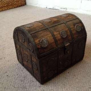 Wooden Jewellery Treasure Box