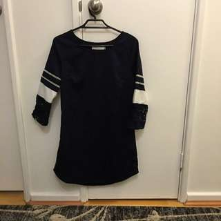 Oversized Shirt Or Dress In Navy Blue