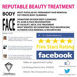 J Studios Review - Facial Service, Hair Removal, Body Slimming, TCM Therapy