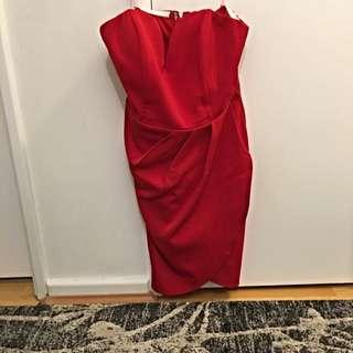 Strapless Red Dress