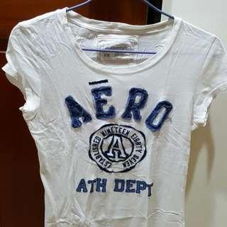 Aero白色棉T