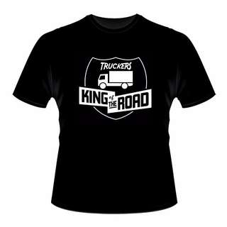 Black Trucker T Shirt (King of the Road)