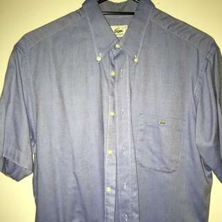Lacoste Short Sleeve Button Up (size 41-large)