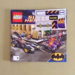 LEGO DC Universe Super Heroes 6864 Batmobile and the Two-Face Chase ( TWO-FACE'S CAR and BANK ONLY )