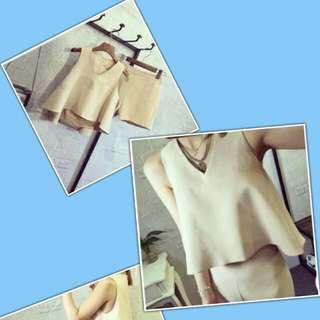 全新米白色套裝