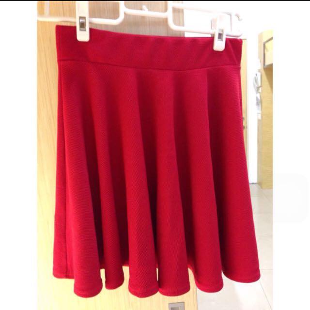 紅色太陽裙43公分