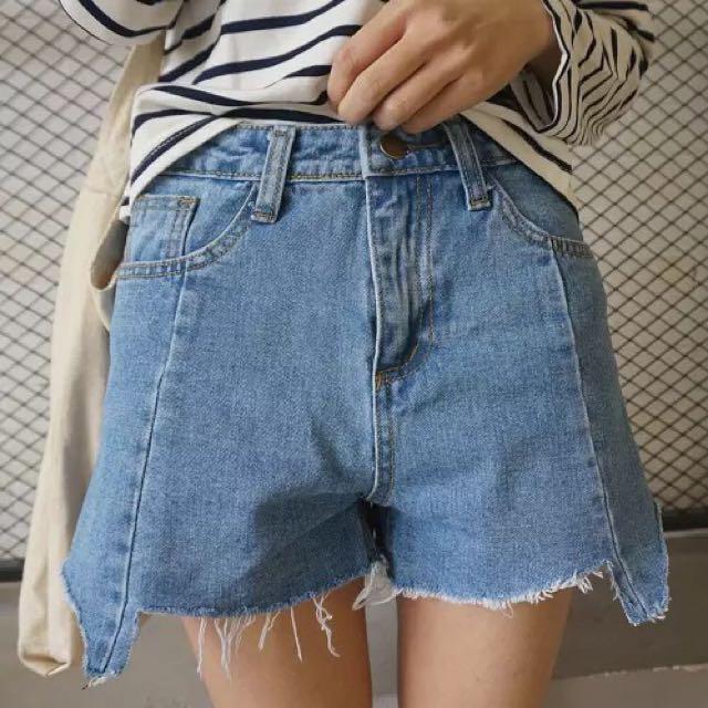 不規則牛仔短褲