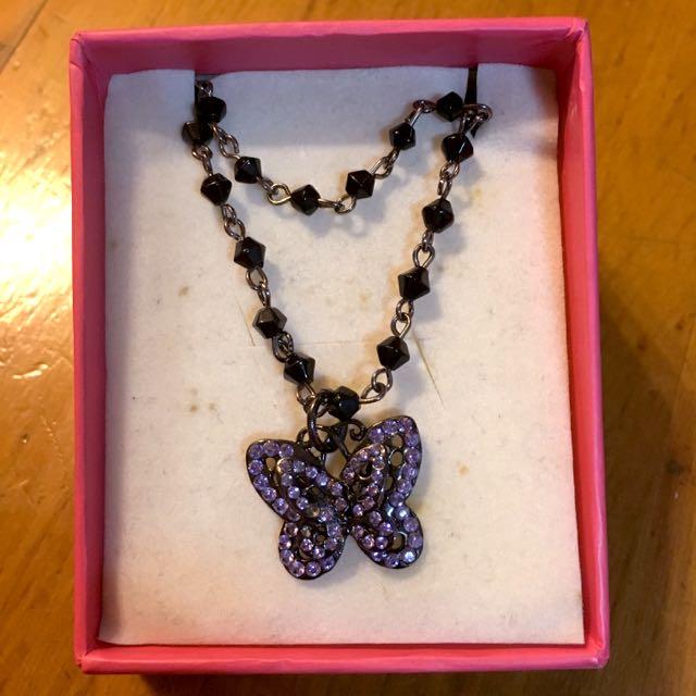 Old🔺紫蝴蝶雙層手鍊