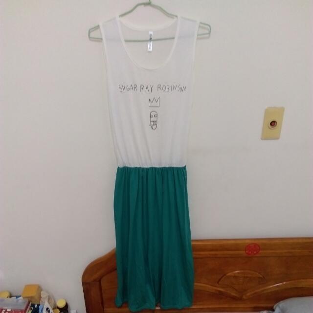 無袖 連身 長裙
