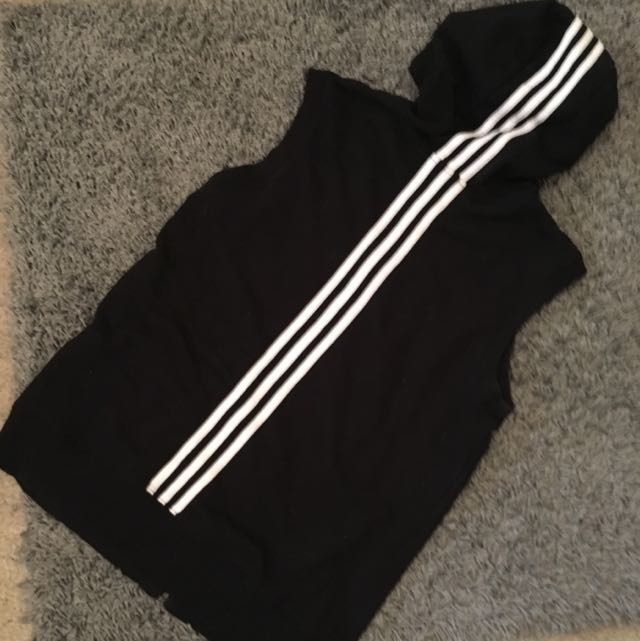 Adidas Size S Sleeveless zip-up hooded vest