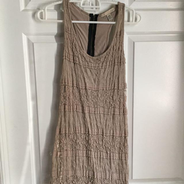 Beige Lace Dress