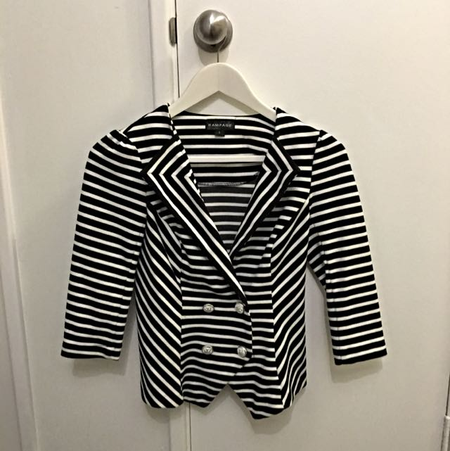 Black And White Stripped Jacket
