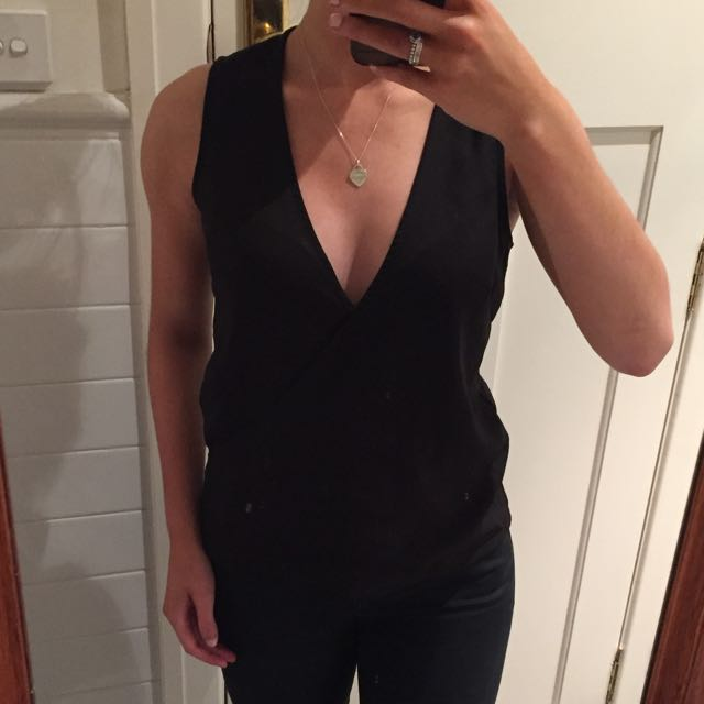 Black Deep V Top