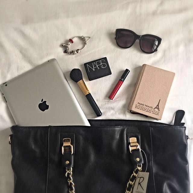 BNWT Black Tote With Gold Chain