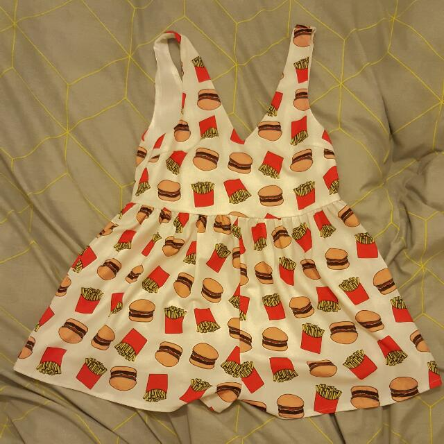 Burgers And Fries Playsuit