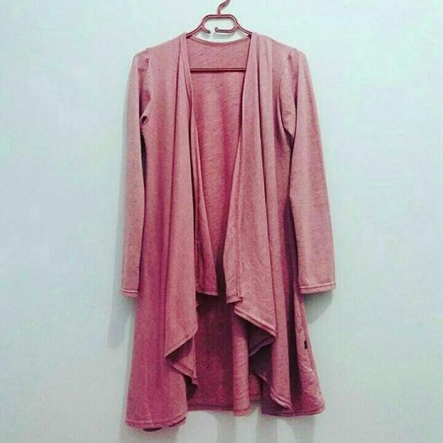 Cardigan Rajut Soft Pink