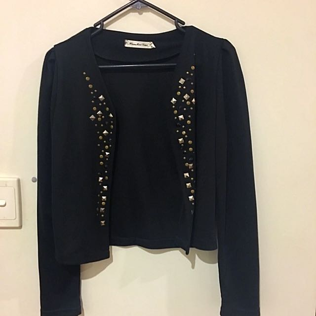 Embellished Black Jacket
