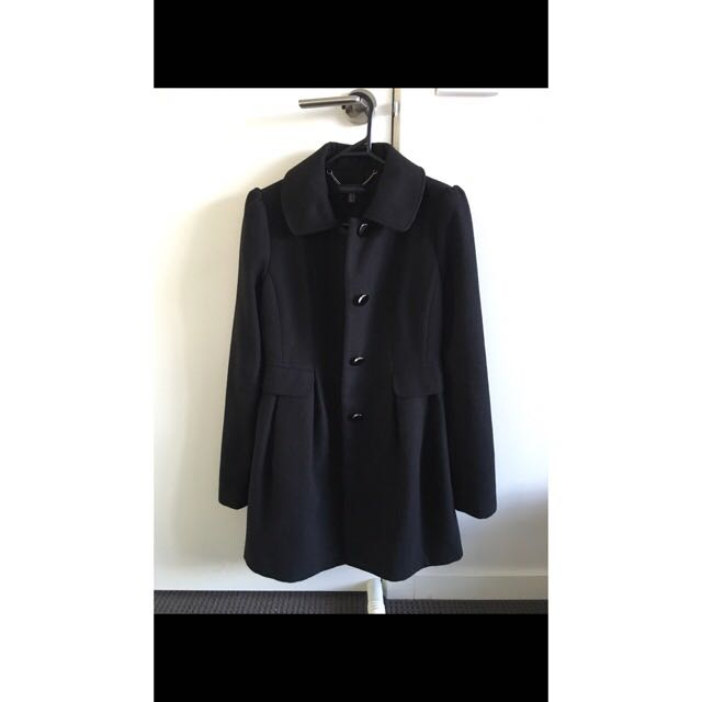 Forever New Black Coat Size 6
