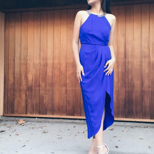 Forever New Blue Formal Dress
