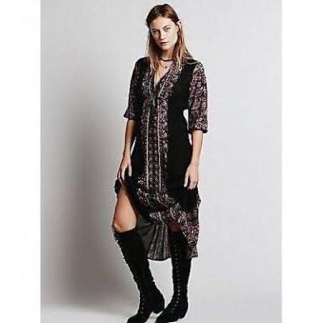 Free People Midi Dress Size M
