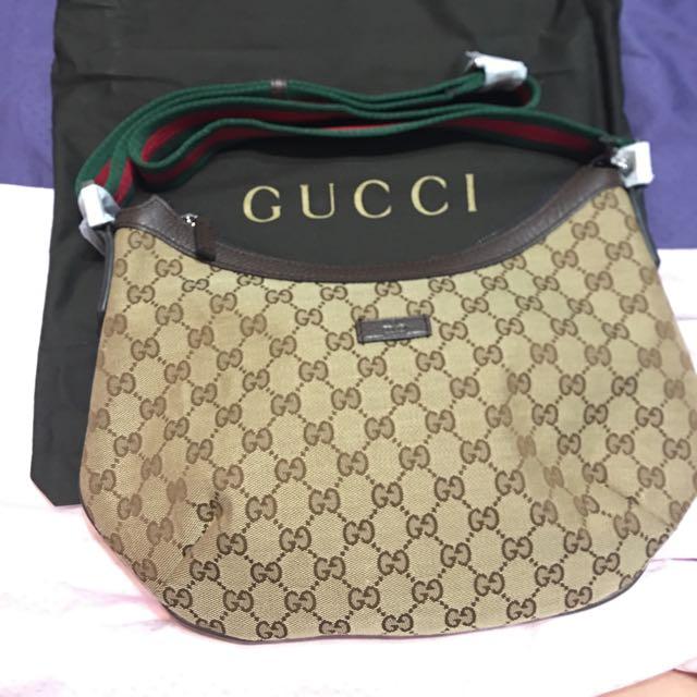 db5d7b96b Gucci Half Moon Sling Bag, Luxury on Carousell