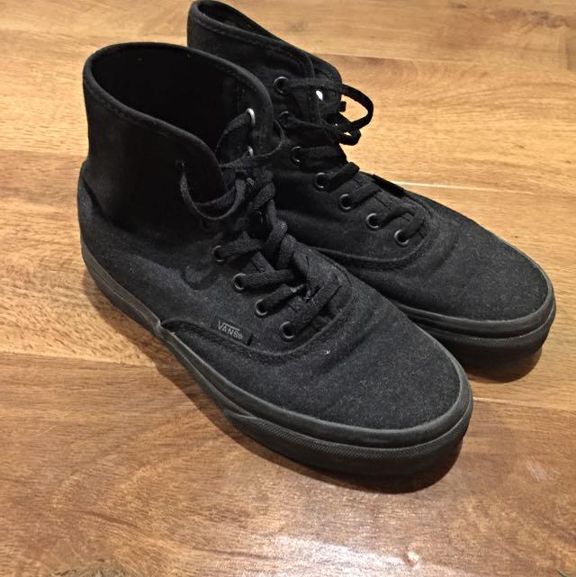 hightop black vans