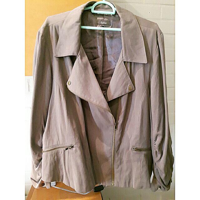 Katies Khaki Coat/Jacket Size 20