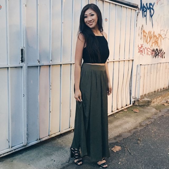 Khaki Maxi Skirt