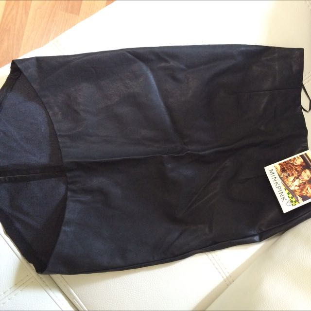 Minkpink Leather Look Skirt BNWT