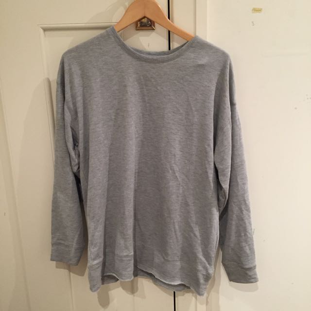 Oversized Grey Sweatshirt