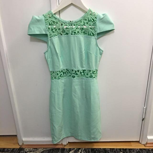 Pale Green Dress