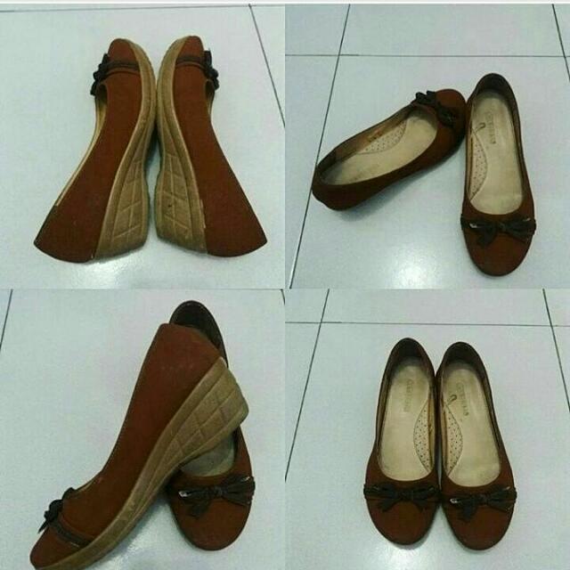 Sepatu Wedges Connexion Cokelat