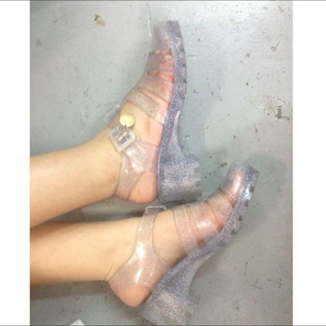 Sparkle Sparkle Dotti Jelly Heels