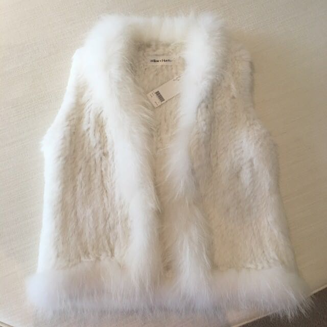 Willow And Hunter White Fur Vest