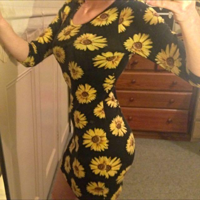 Winter clubbing sunflower Dress