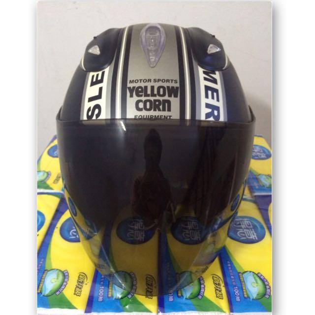 YELLOW CORN x SBK 半罩式安全帽