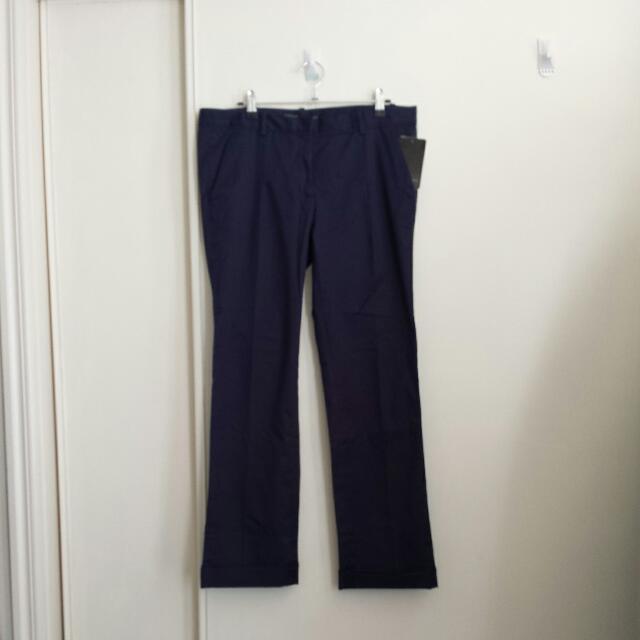 Zara Navy pants Size 40. Bnwt