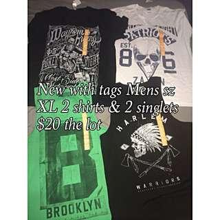 Mens Shirts & Singlets Bulk Buy