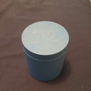 T2 Blue Cylinder Container