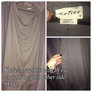 Katies Grey Skirt Size 18