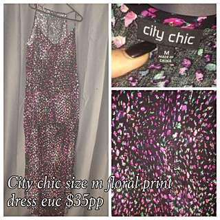 City Chic Size M Maxi Dress