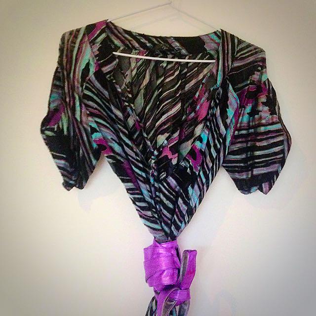 Cyn 100% Silk Dress with Waist Belt
