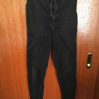 Washed Out Topshop Joni Highwaisted Jeans