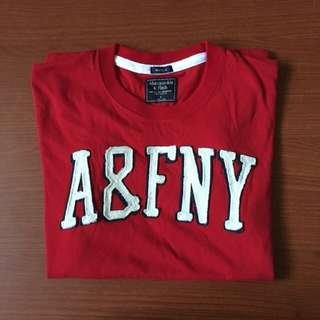 Abercrombie Red Appliqué Tee S