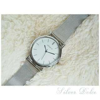 Brand New Geneva Stainless Steel chain Watch
