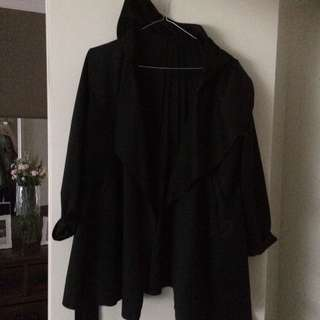 Black Jacket With A Hood