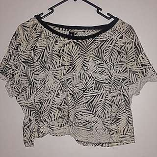 Tropical Cropped T Shirt