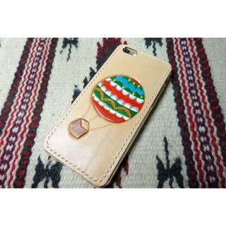 IPhone6 皮雕皮革手機殼